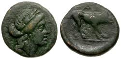 Ancient Coins - Argolis.Argos Æ Dichalkon / Wolf