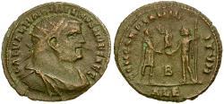 Ancient Coins - Galerius as Caesar Æ post-reform Radiate