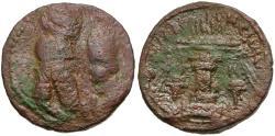 Ancient Coins - Sasanian Kingdom. Ardashir I (AD 223-240) Æ Tetradrachm / Ardashir and Shapur I