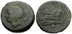 Ancient Coins - 217-215 BC - Roman Republic  Anonymous Æ Uncia