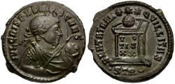 Ancient Coins - Crispus Caesar Æ3 / Votive Wreath