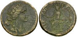 Ancient Coins - Phrygia. Hierapolis. Pseudo-autonomous Æ25 / Hygieia & Telesphorus