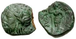 Ancient Coins - gVF/gVF Thessaly, Ekkarra Æ Chalkous / Zeus / Artemis