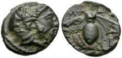Ancient Coins - Thessaly. Melitaia AE Chalkous / Bee
