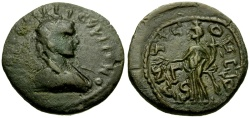 Ancient Coins - Gallienus, Pisidia Antioch Æ23 / Genius of Colony