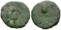 Ancient Coins - Kings of Parthia. Phraates IV (38-2 BC) Æ Chalkous / Grain Ear