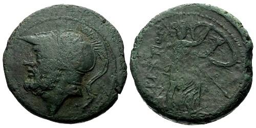 Ancient Coins - gF+/gF Bruttium The Brettii AE Didrachm / Ares / Hera