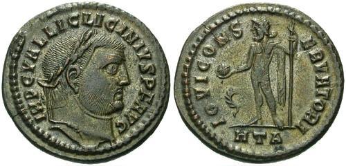 Ancient Coins - VF/VF Licinius Silvered Follis / Jupiter