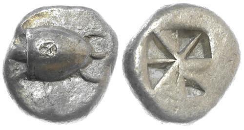 Ancient Coins - VF/VF Aegina AR Stater / Tortoise