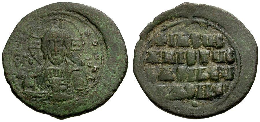 Ancient Coins - Byzantine Empire. Anonymous Class A2 Æ Follis / Portrait of Christ