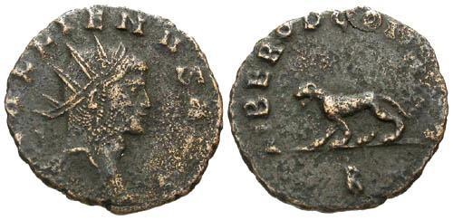 Ancient Coins - gF/gF Gallienus AE Antoninianus / Panther
