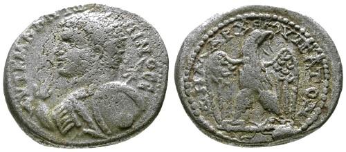 Ancient Coins - gF+/gF+ Caracalla Syria Cyrrhestica Cyrrhus AR Tetradrachm / Rare Portrait Style