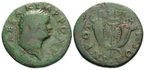 Ancient Coins - gF/gF Scarce Titus Dupondis T CAESAR IMP PONT