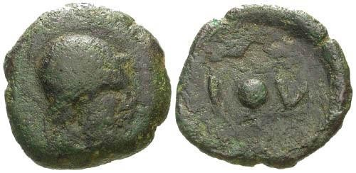 Ancient Coins - F/gF Lipara Sicily AE Uncia in a Tetras weight