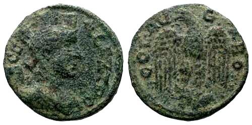 Ancient Coins - VF/VF Troas Alexandreia AE20 / Eagle Facing Wings Spread