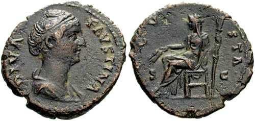 Ancient Coins - aVF Faustina Senior AE AS Posthumous Issue