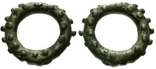 Ancient Coins - Celtic Ring Money / Studded Snow Tire