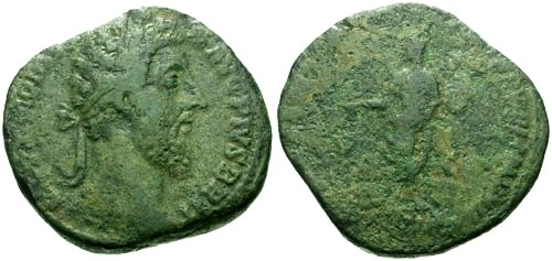 Ancient Coins - gF/aF Commodus AE Sestertius / Emperor sacrificing