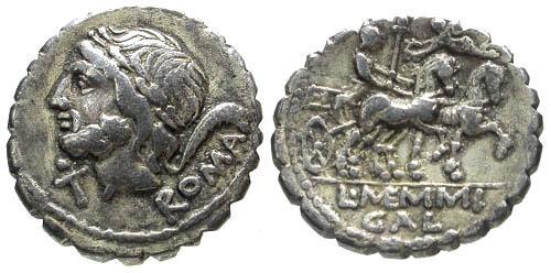 Ancient Coins - 106 BC / VF/VF Memmia 2 Roman Republic Denarius / Venus in biga