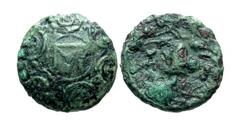 Ancient Coins - gF/aF Kings of Macedon Antigonus Gonatas  AE16 / Shield