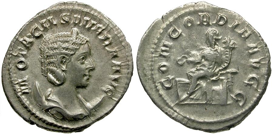 Ancient Coins - Otacilia Severa (AD 244-249) AR Antoninianus / Concordia