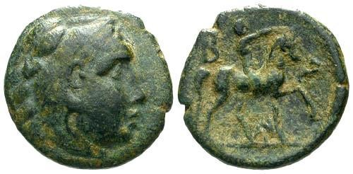 Ancient Coins - aVF/aVF Antigonus Gonatas Ruler of Macedon AE18 / Horseman