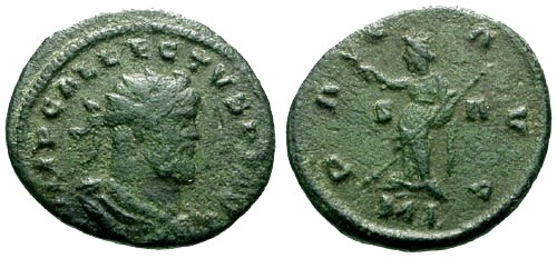 Ancient Coins - VF/VF Allectus AE Follis / Pax