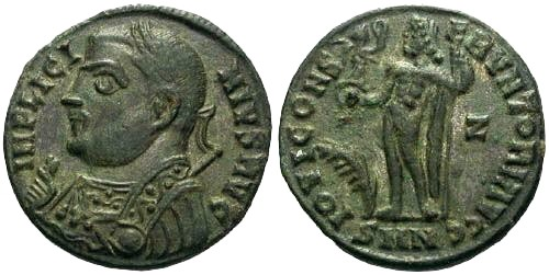 Ancient Coins - EF/EF Licinius AE / Silvering