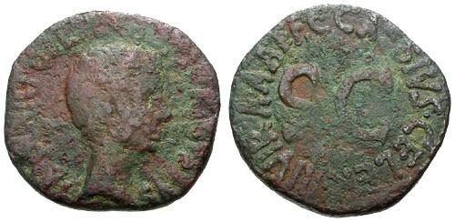 Ancient Coins - F/F Augustus AE Dupondius / S C