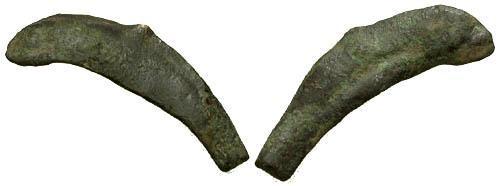 Ancient Coins - Sarmatia Olbia Early cast dolphin coinage