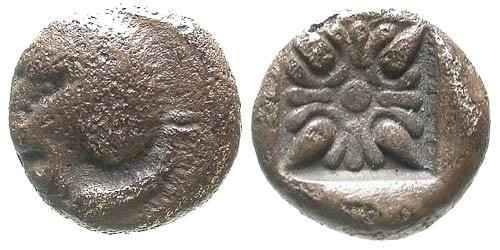 Ancient Coins - gF/gF Ionia Miletos AR 1/12 Stater / Lion
