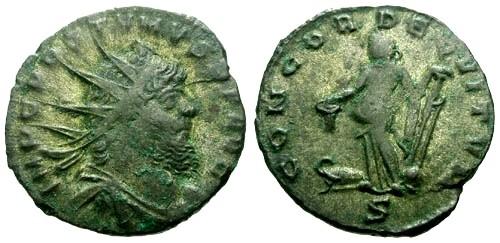 Ancient Coins - aEF/VF Aureolus AR Antoninianus in the name of Postumus / Mediolanum Mint