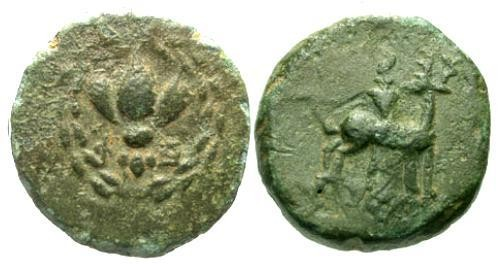Ancient Coins - VF/VF Ionia Ephesus AE14 / Stag and Bee