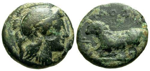 Ancient Coins - VF/aVF Ionia Klazomenai AE11 / Ram