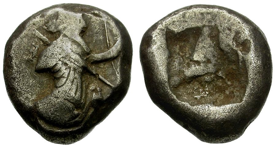 Ancient Coins - Persia. Achaemenid Empire. Time of Xerxes II to Artaxerxes II AR Siglos / Great King
