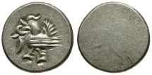 World Coins - Cambodia. Ang Dong AR 1/8 Tical / Hamza bird