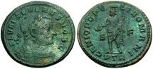 Severus II as Caesar Æ Follis / Genius