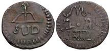 World Coins - Mexico. Oaxaca Æ Emergency 2 Reales Sud / Struck under General Morelos