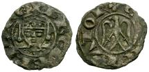World Coins - VF/VF Kings of Sicily, Henry VI (of Swabia) and Frederico king of Rome Billon Denaro