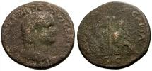 Ancient Coins - gF/gF Titus as Caesar Æ As / Judaea Capta