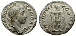 Ancient Coins - Severus Alexander AR Denarius / Mars