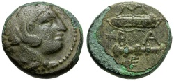 Ancient Coins - Kings of Macedon.  Alexander III The Great Æ17 / Bow Case and Club