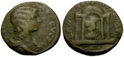 Ancient Coins - Julia Domna, Coele-Syria, Damascus Æ22 / Lindgren Plate Coin
