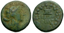 Ancient Coins - Phoenicia.  Sidon, Quasi-Autonomous Issue Æ19 / Dionysos / Cista Mystica