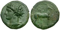 Ancient Coins - Zeugitania. Carthage Æ17 / Horse and Palm tree