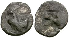 Ancient Coins - Sicily. Himera AR Obol or Litra / Rooster