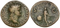 Ancient Coins - Nero (AD 54-68) Æ AS / Victory
