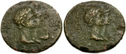 Ancient Coins - Kings of Thrace. Rhoemetalces I AE29 / Jugate busts