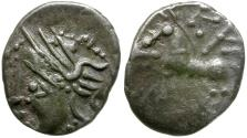 Ancient Coins - Ancient France. Celtic Gaul. Aedui or Lingones Tribe Kaletedou type AR Quinarius