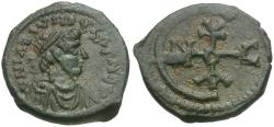 Ancient Coins - *Sear 245* Byzantine Empire. Justinian I (AD 527-565) Æ Pentanummium